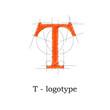 Logo design letter T # Vector