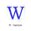 Logo design letter W # Vector