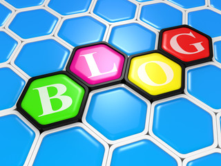 "Abstract color sign ""BLOG"""