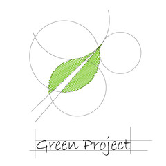 Logo green project # vector
