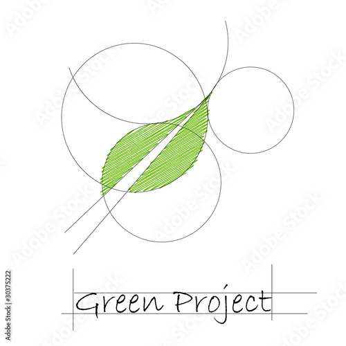 Logo green project # vector