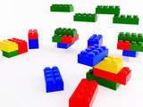 Lego mattoncini colorati poster