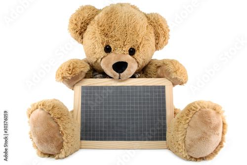 ours brun en peluche avec une ardoise photo libre de droits sur la banque d 39 images. Black Bedroom Furniture Sets. Home Design Ideas