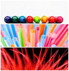 collage colori vivaci