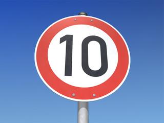 Verkehrsschild 10