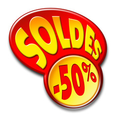 bouton soldes -50%