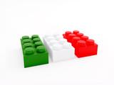 Lego verde bianco e rosso poster