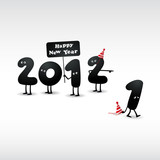 Fototapety Funny 2012 New Year's Eve greeting card