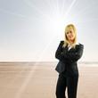 Business woman beach
