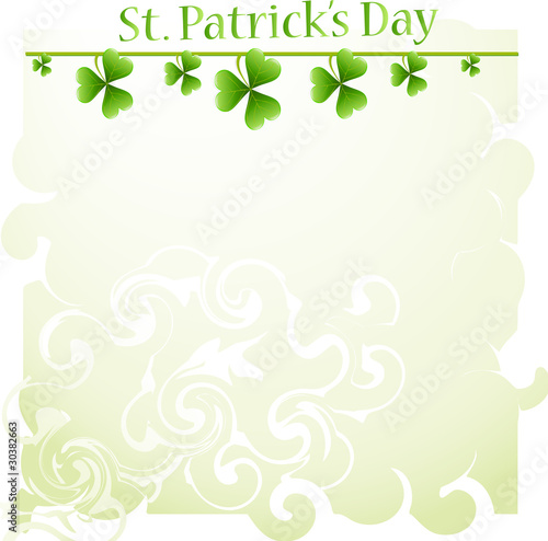 St. Patrick's Day background with clover
