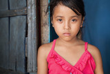 Asian girl portrait - poverty in the Philippines poster