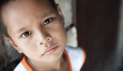 Filipino boy living in poverty