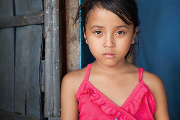 Asian girl portrait - poverty in the Philippines