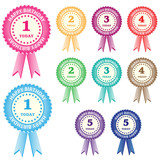 Birthday rosettes for children