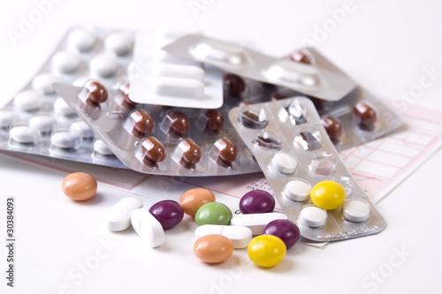 Rezept mit Tabletten