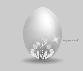 Sfondo con Uovo di Pasqua decorato, in vettoriale