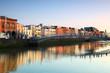 Leinwanddruck Bild - pedestrian bridge in Dublin