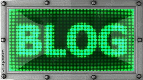 blog announcement on the LED display