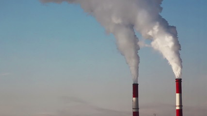 Chimney smoke. Air Pollution