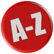 Button rot rund A-Z