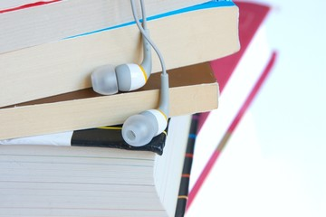 Headphones and some books