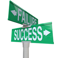 Decision at Turning Point of Success vs Failure - Two-Way Street