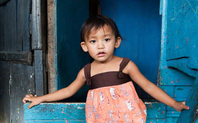 Young Asian girl living in poverty - Philippines
