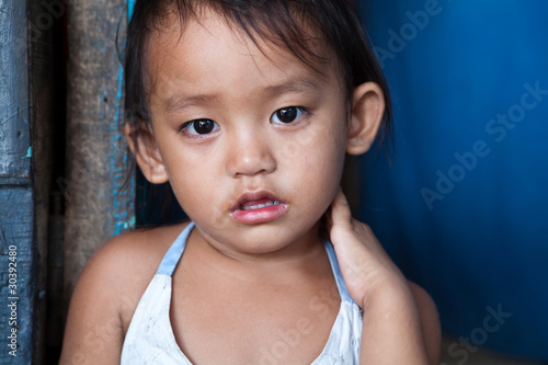 Asian girl living in poverty - Philippines