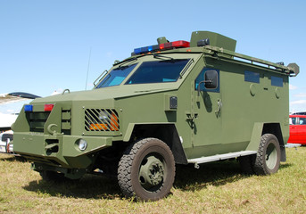 Armored police vehicle