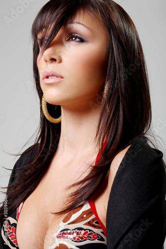 Atractive brunette, portrait 2