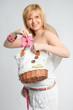 pregnant woman socks and bag