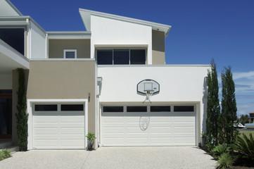 Garage of modern luxury house