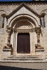 La Collegiata, portale principale San Quirico d'Orcia