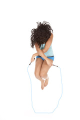 Woman jumprope head down