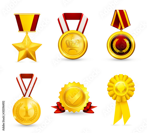 Gold medal, set