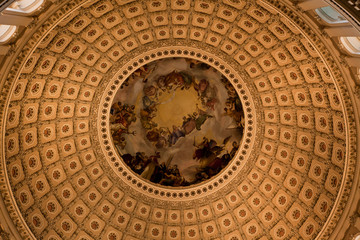 The dome inside of US Capitol
