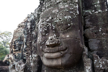 smiling face at Bayon temple, Cambodia