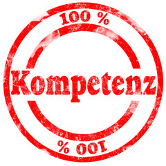 Roter Stempel 100% Kompetenz