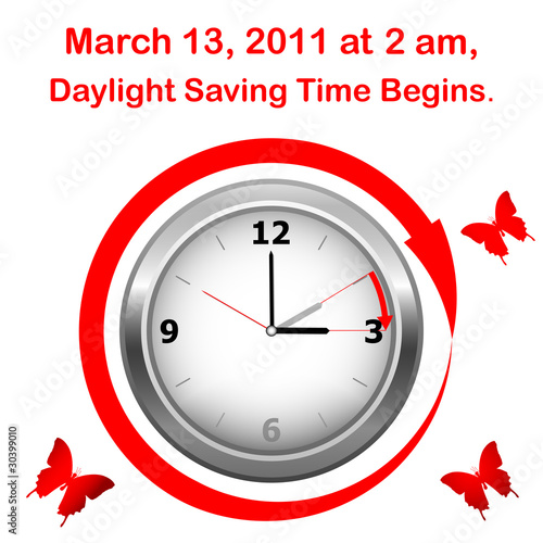 Daylight saving time begins.