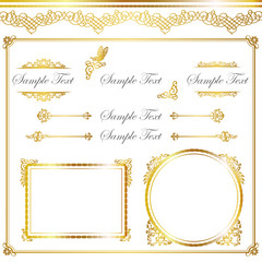 frame set of gold