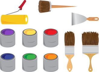 Vector set icon, painting