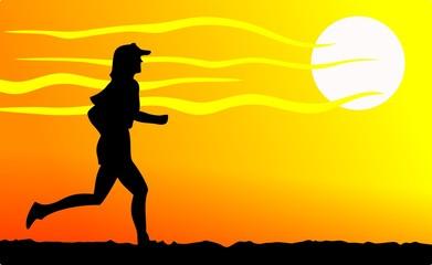 Runner tramonto