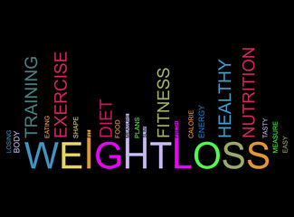 weightloss  text barcode, vector