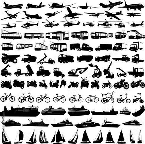 Kolekcja sylwetki transport 2 - wektor