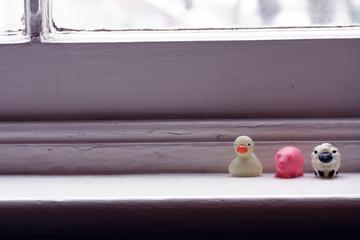 Animal Figurines on Windowsill