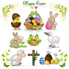 Set di Pasqua felice 2
