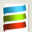 Set of colorful textile labels