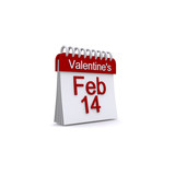February 14 Valentine Calender Icon poster