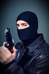 criminal with gun
