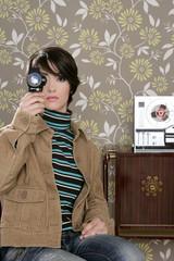 multimedia cinema 8mm woman music tape open reel